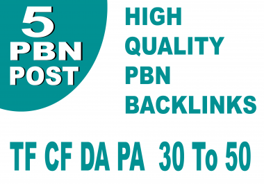 Da PA 30 Plus 5 Permanent Homepage Pbn Backinks For Fast Ranking