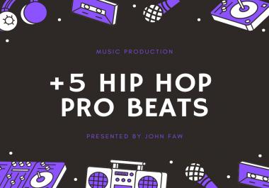 Get +5 Professional Hip Hop Beats - Music Production