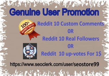 Real and Manually Reddit Promotion