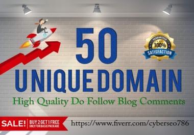 DO 50 high Da Pa 50+ Blog Comment Backlinks
