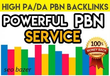 Build 50 High PA DA PBN Backlinks - Homepage Quality Links