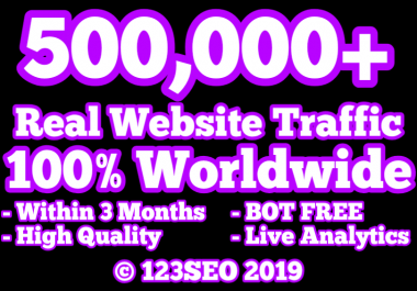 500,000 Real Human Website Traffic