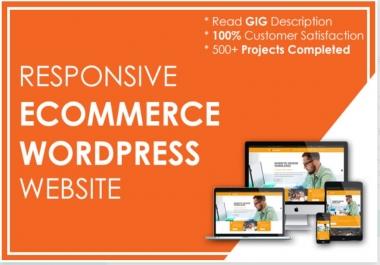 Design Responsive Shopify or Ecommerce Wordpress Website