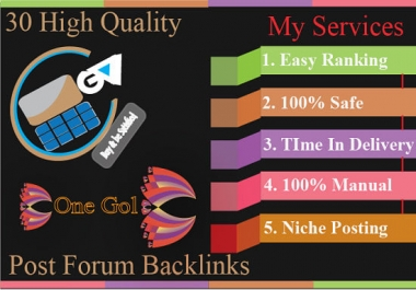 Do HQ Forum Posting Backlink For Easy Ranking Your Site
