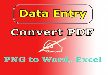 Convert PDF and PNG to Word, Excel