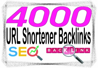 DO Create 4000 HQ. URL shortener R6 to PR10 Backlinks and rank higher on Google