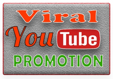 YouTube Promotion and Marketing to your video Online Marketing & Organic Promotion