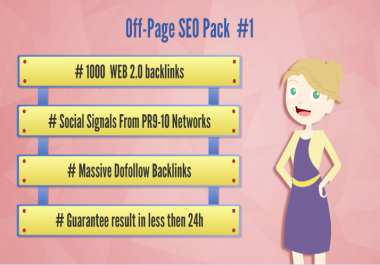 Site SEO pack - Backlinks, WEB 2.0s, Social Signals from PR9-PR10 social Networks