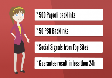 live stream SEO pack - 500 paperli backlinks, 50 PBN backlinks, organic social