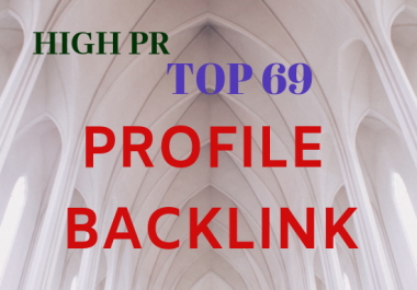 Create 69 high quality social profile backlinks for google ranking