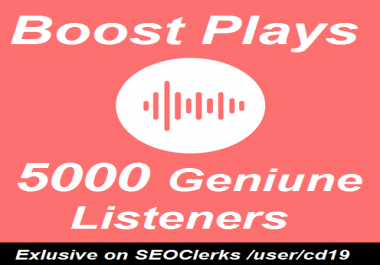 Music promotion 5000 Unique Streams on Track Album