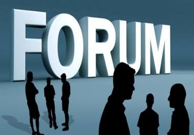 Give you 10 forum posting backlink for boosting your website