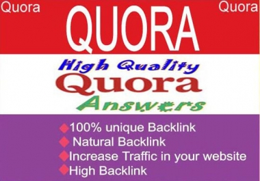 Give you 5 Quora Answer for getting huge traffic