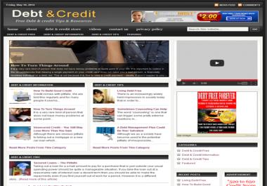 Fully Automated Wordpress Debt & Credit Repair Website - 100% Autopilot - SEO Ready Website