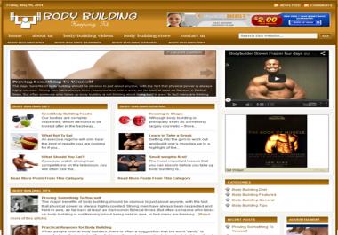Fully Automated Wordpress Body Building Website - 100% Autopilot - SEO Ready Website
