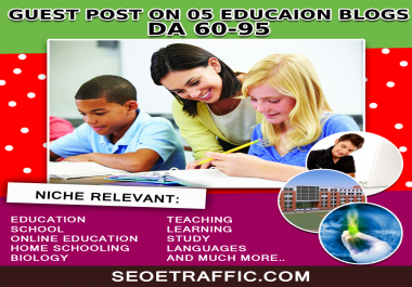 Write and Publish guest post article on 04 EDU websites with DoFollow backlink