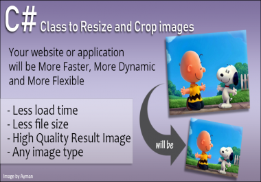 Resize and crop images - high end quality C# Sharp Class