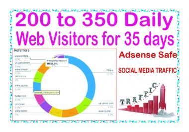 Do 200-350 daily web Human Traffic  for 35 days
