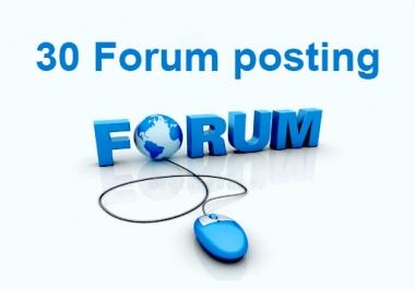 do 30 high quality forum posting