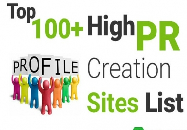 Instant Give You 100+ High DA PA Profile Backlink Create Sites List
