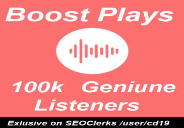 100k Music Promotion Unique Listeners On Your Track / Song