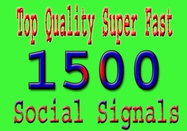 Super Fast Google Rank 1500 HQ SEO Social Signals