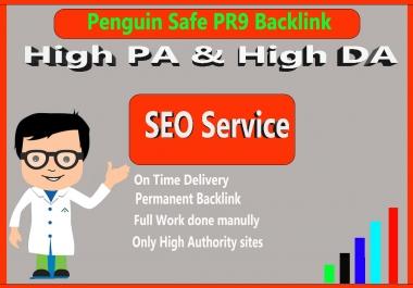 Manual Penguin Safe All Pr9 15  SEO High Profile Backlinks