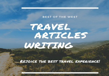 Write a Travel Article or Blog post for targeted audience