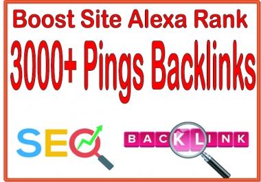 Get you 3000+ HQ PR URL Pings Backlinks