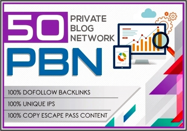 Do 50 high metrics pbn posts contextual backlinks