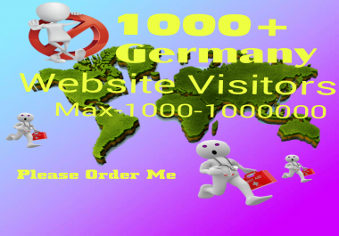 give you real 5000+ Germany traffic or website visitors on your website or blog