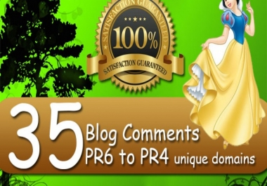 Manually do 35 High Quality Dofollow Blog comments backlinks