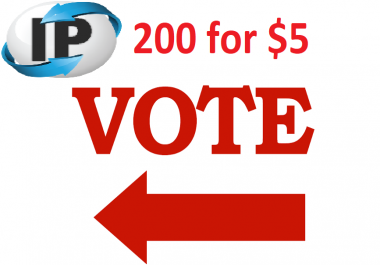 Get you 200 ip votes on your online poll voting contest