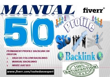 Build 50 High Dofollow Profile Backlinks