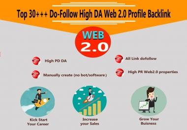 Top 30+++ Do-Follow High DA Web 2.0 Profile Backlink