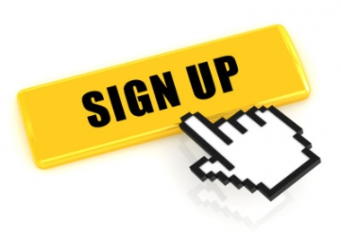 Provide you 20 Unique Sign Ups from USA