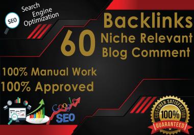 60 Build Niche Relevant Blog Comment