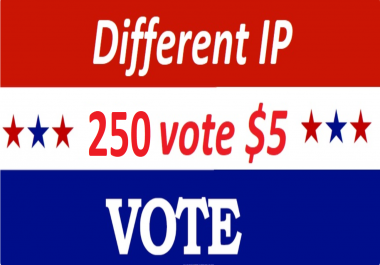 Get offer 250 Different IP votes contest that you are participating