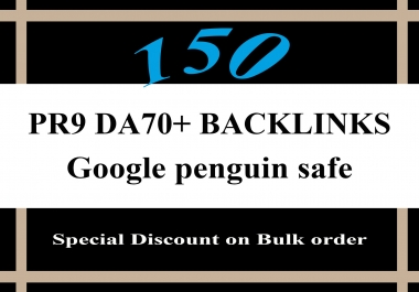 You will get 50 Da70 High Authority SEO Friendly Backlinks