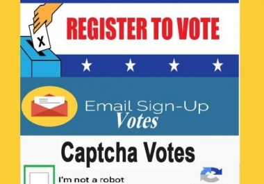 100 Signup Or Registration With Email Confirmation Votes From Different IP,s