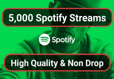 Music Promotion 5,000 HQ Organic Streams With Royalties Eligible USA Streams