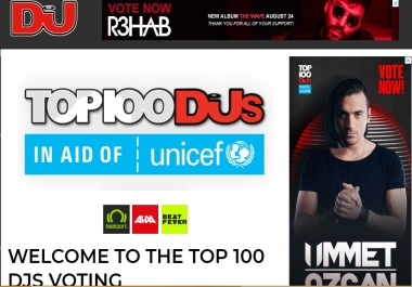 Promote You Unlimited Top Dj Contest Votes with Different IP,s