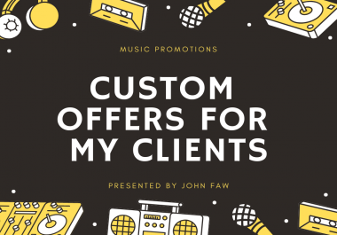Provide Custom Offers For My Clients