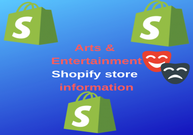 11000+ Shopify Arts and Entertainment Leads