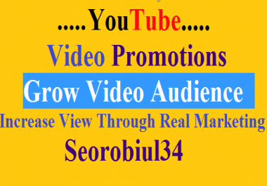 YouTube Video Promotions With Wold Wide Audience