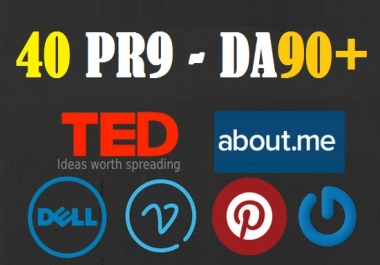 Exclusive Offer- DA 90+ All Pr9 40 Safe SEO High Profile Backlinks