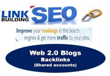 100 Top Quality web 2.0 backlinks!  High Domain Authority (DA 30 - 100)
