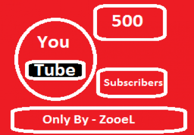 Get You 500+ YouTub Subcriber safely