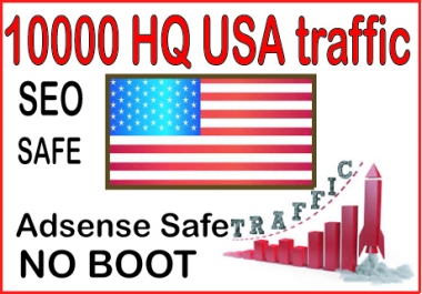Get  10000 High Quality USA Human traffic to your website