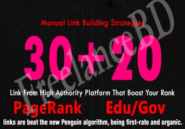 Skyrocket Your Google Rankings, With 30 PR9 + 20 EDU GOV Permanent Backlinking